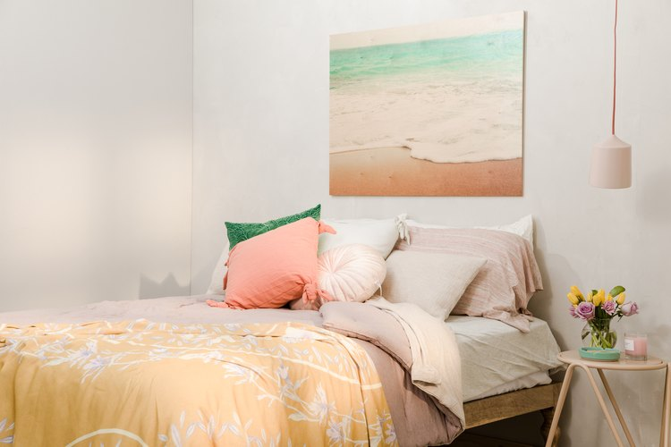 Beachy bedroom look with Urban Outfitters