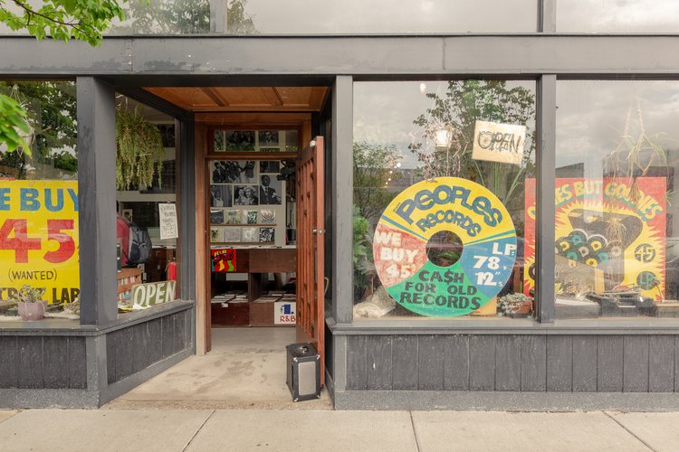 People's Records storefront