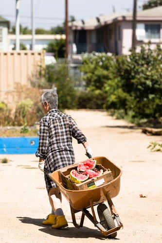 Worker at the Fremont Community Garden