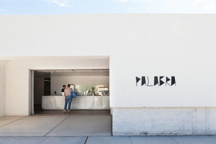 A minimalist white gallery