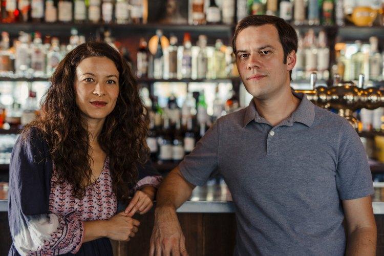 Portrait of Mia Doi Todd and Jesse Peterson