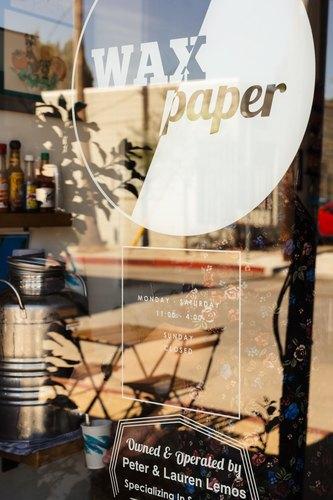 Wax Paper's front window