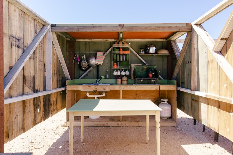 The outdoor kitchen at Saturn.