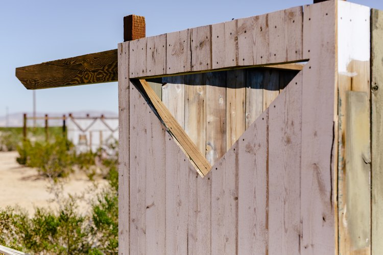 Architectural details of the outhouse built at Saturn.