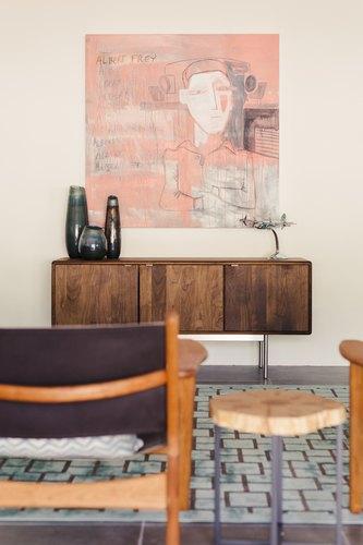 Frey house living room detail