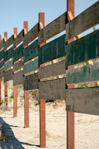 A fence built from existing scrap wood at Sonora.