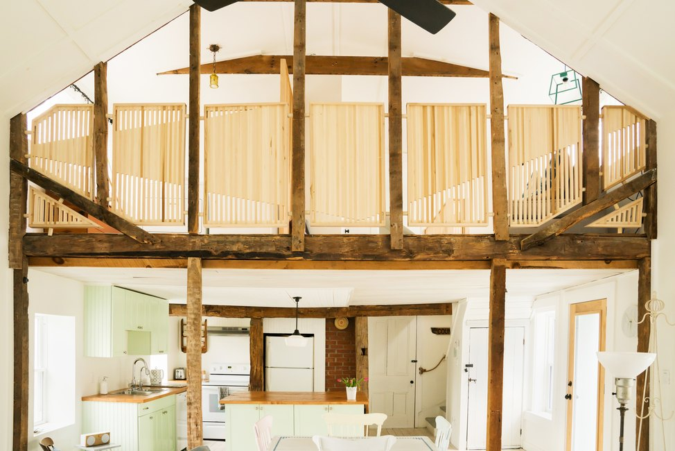 kitchen view and beam structure
