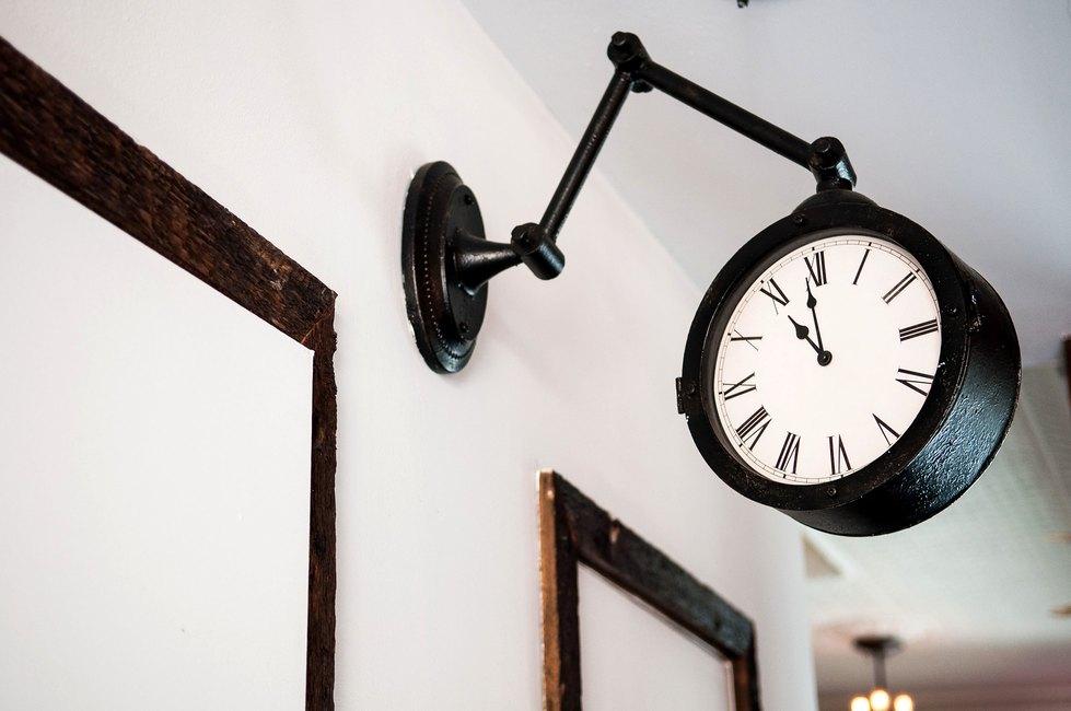 Clock at Urban Cowboy Brooklyn