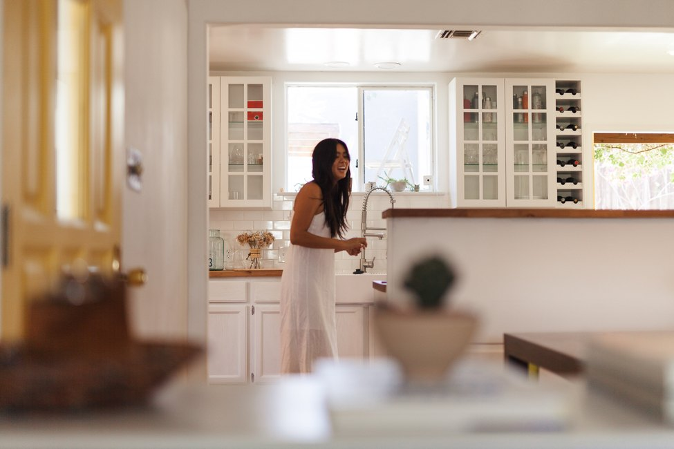 Tess Tran in kitchen