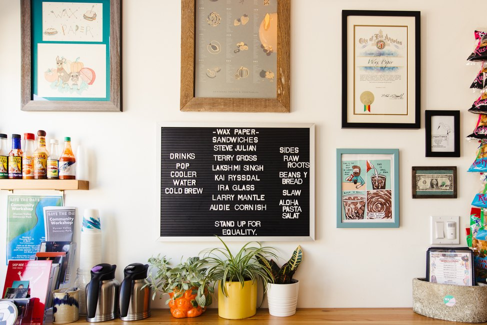 Wax Paper's menu